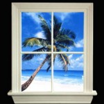 88701-B Window Lite w Tropical Beach View