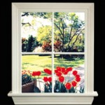 88701-E Window Lite w English Garden View