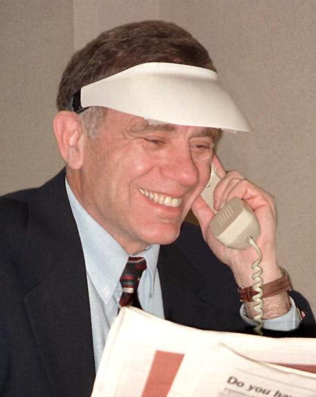 Irv Wearing a Light Visor